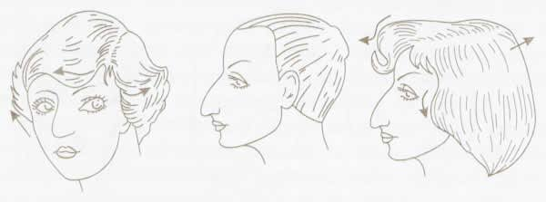 Прически для лица с маленьким носом