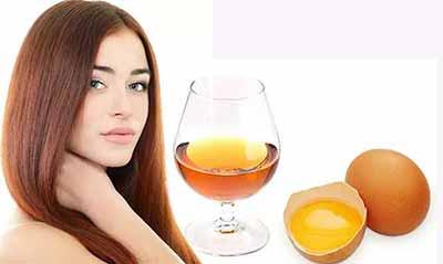 Маска для волос желток, коньяк, мед
