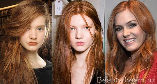 Янтарное окрашивание волос