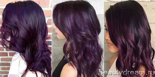 цвет баклажан фото волос