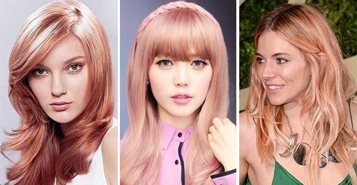Розовая карамель цвет волос