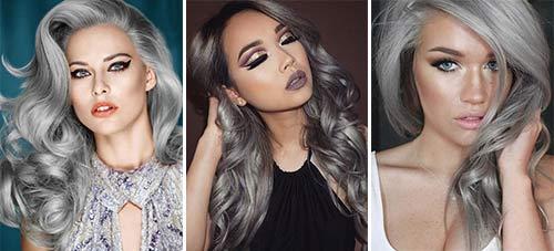 Модный цвет волос в 2017 году для серых глаз