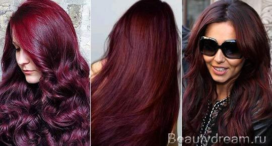 Из красного в коричневый цвет волос фото