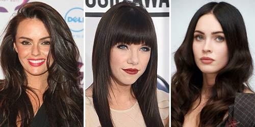 Чёрно-коричневый цвет волос