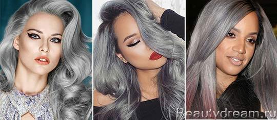 серый цвет волос фото