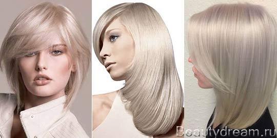жемчужный блондин цвет волос