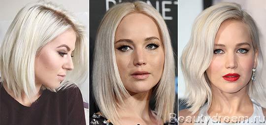 платиновый блонд цвет волос