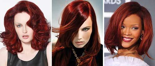 Шоколадно-красный цвет волос