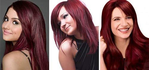 Коричнево красный цвет волос фото