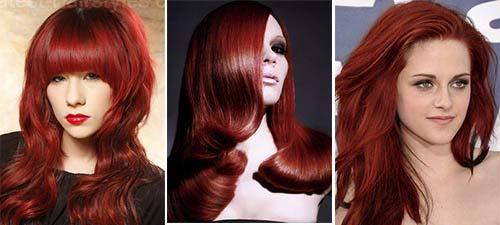 Цвет волос коричнево-красный