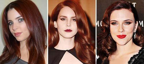 Цвет волос каштаново-красный