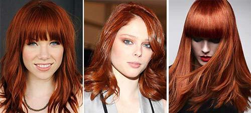 Оттенки красный цвет волос фото