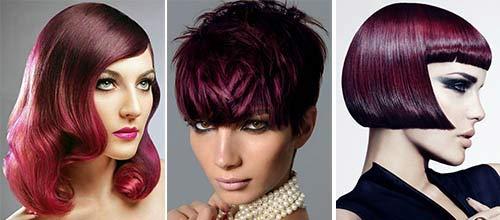 Фото рубиновый цвет волос