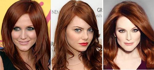 Цвет волос шоколадно рыжий фото