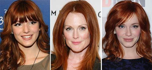 Фото цвет волос каштаново-рыжий