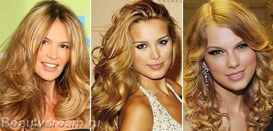 золотистый блонд цвет волос