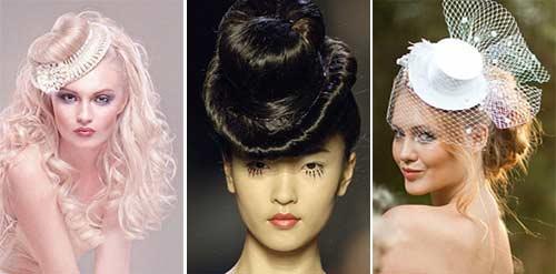 Фото прически в виде шляпки