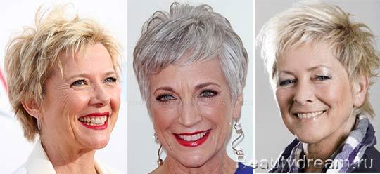 Стрижки для женщин после 50 лет - фото 20