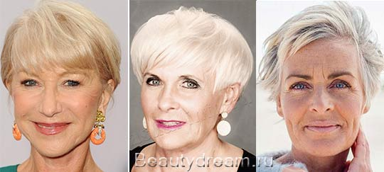 прически на короткие волосы 60лет