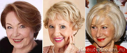 Прически для женщин после 60 лет фото на короткие волосы