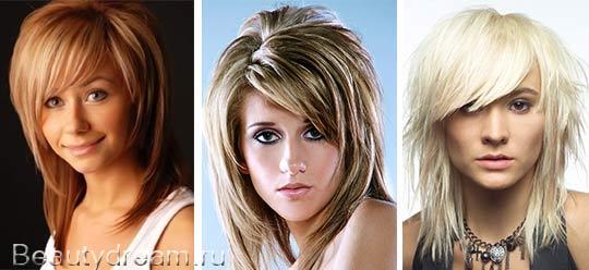 стрижка аврора фото на средние волосы