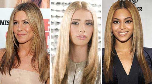 Стрижки длинные волосы на круглое лицо фото