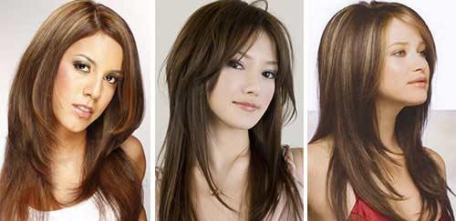 Причёски на длинные волосы для круглого лица