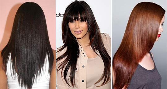 Стрижки на очень длинные волосы фото