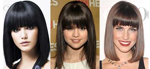 стрижки каре с челкой на средние волосы фото
