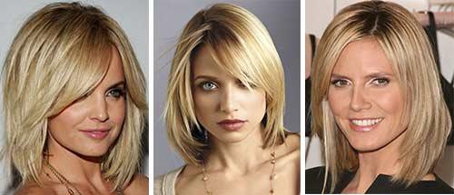 Каре многослойное на средние волосы
