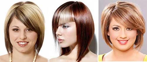 Стрижка для круглого лица на вьющиеся волосы фото