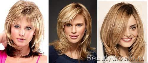 Фото причесок для круглого лица на средние волосы