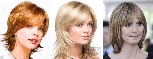 Причёски каскад на средние волосы для круглого лица