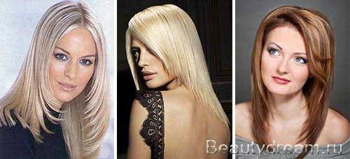 Стрижки на средние волосы лесенка с челкой