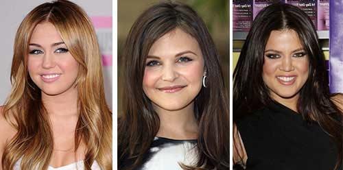 Прически на средние волосы для полного лица фото