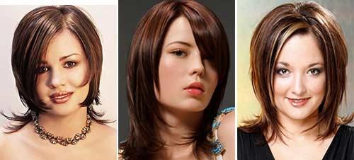 Фото стрижек на короткие волосы для полного лица