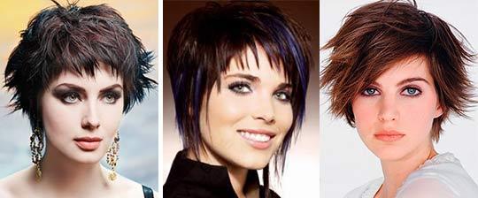 Рваные стрижки на короткие волосы фото женские