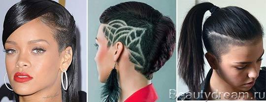 Стрижки на средние волосы с выбритым виском