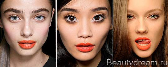 модный макияж губ