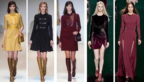 Модные платья осень-зима 2015 - шикарные новинки