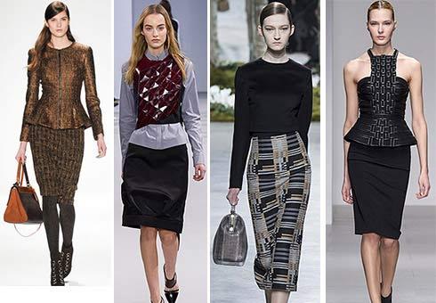 Все так же популярна и юбка-карандаш. Многие помнят, как их называли в 80-х: символ женской власти. Да, этот фасон просто создан для ношения в офисе